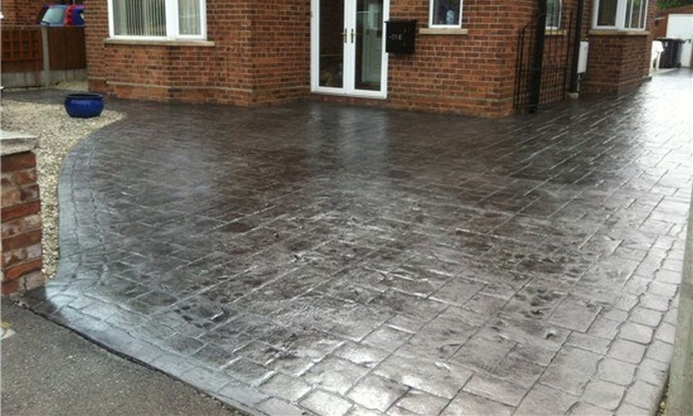 pattern imprinted concrete driveways in altrincham