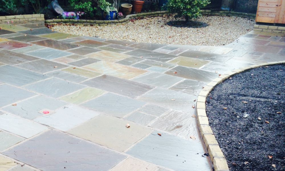 recent work for patios in Woodley
